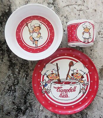 Campbell's Soup - 1991 Campbell's Kids; Plate, Bowl & Cup Set [VHTF] (VGUC)