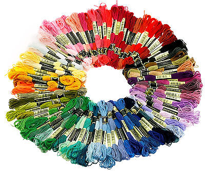 100 X 8 Meters Different Colors Skeins 100% Thread Cotton Stranded Embroidery AU