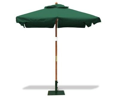 Square 2m Garden Parasol - Outdoor Umbrella Sun Shade - 5 colours - FREE cover