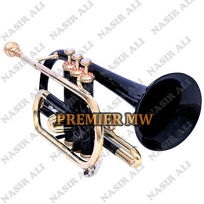 Cornet B-Flat Black Lacquered For Sale With Free Hard Case + Mouthpiece