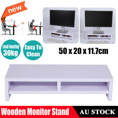 Desktop Monitor Stand LCD TV Laptop Rack Computer Screen Riser Shelf Bracket AU
