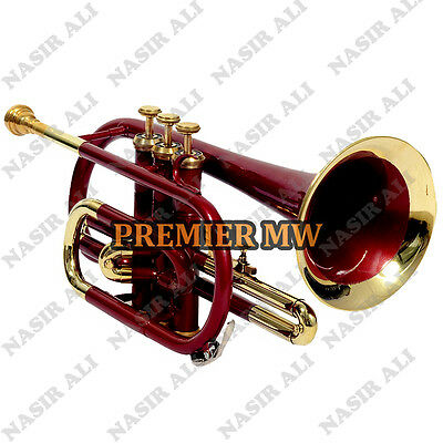 CORNET Bb PITCH RED LACQUERED SUMMER SALE 10% OFF WITH FREE CASE AND MOUTH PIECE