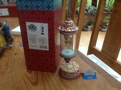 rare disney tradition 'tinkerbell shining sprite lantern' boxed/working 11.5""