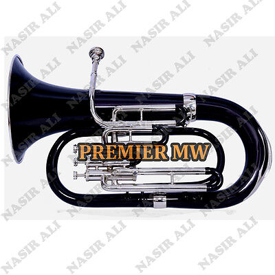 Euphonium B-Flat 3 Valve Black Lacquered + Nickel Silver With Free Carry Bag +Mp