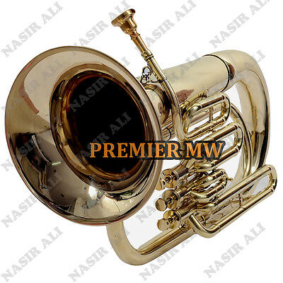 Euphonium B-Flat 3 Valve Brass Golden Look With Free Carry Bag + Mp