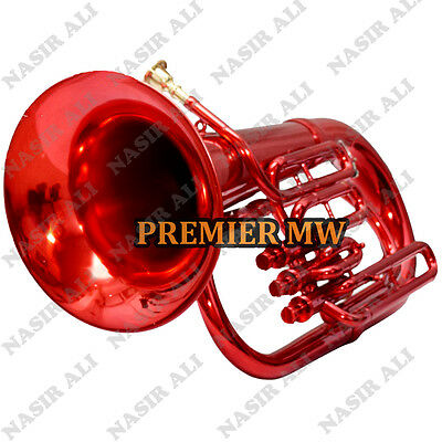 Euphonium B-Flat 3 Valve Red Lacquered With Free Carry Bag + Mp