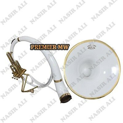 """Sousaphone Small Bell 21"""" B-Flat White Color For Sale With Free Carry Bag + Mp"""