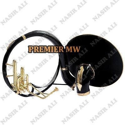 """Sousaphone Small Bell 21"""" B-Flat Black Color + Brass For Sale With Free Bag + Mp"""