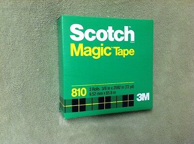 "PACKAGE OF 3 ROLLS SCOTCH MAGIC TAPE 3/8"" X 72 Yards DISPENSER REFILL"