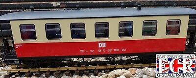 2 TONE G SCALE 45mm GAUGE DR RAILWAY PASSENGER RED CREAM CARRIAGE TRAIN COACH