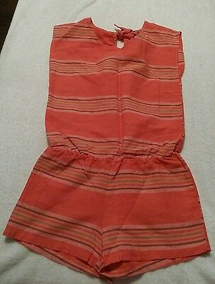 Old Navy Girls Coral Striped One Pc. Shorts Romper Size Medium 8