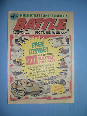 Battle Picture Weekly issue 3 dated March 22 1975