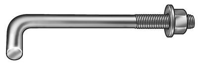 45139 Anchor Bolt, L Hook, 1-8x6 In, PK10