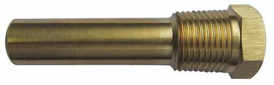 24C480 Industrial Thermowell, Brass, 5/8-18 UNF