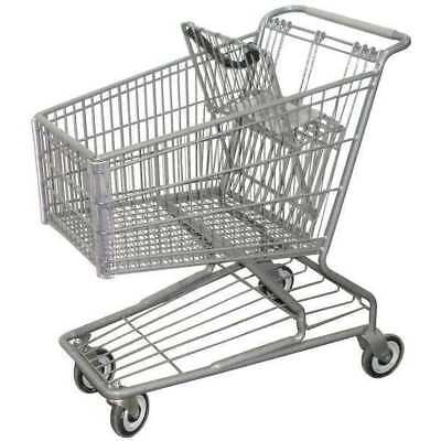 Wire Shopping Cart,32-3/4 In. L ZORO SELECT RWR-PRE-172W
