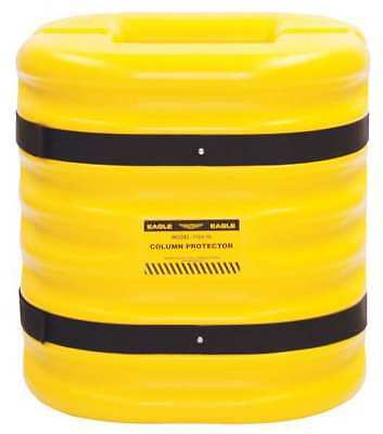 Column Protectr,Fits 8 in.,HDPE,Yllw