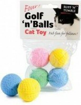 Ruff 'n' Tumble Golf 'n' Balls Assorted Pack of Toys for Cats | 4 Balls