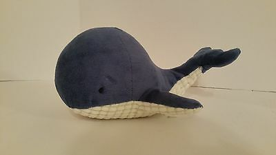 NAUTICA Kids NAVY Blue PLUSH Whale PILLOW Bedding VELOUR Zachary TALE Brody GUC