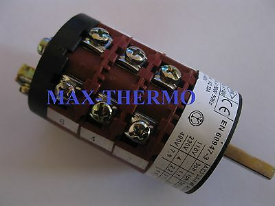 COMENDA rotary switch 4 1-0-2-3 sets of contacts 6 type CS0168341