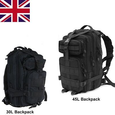 NEW 30L 45L Military Tactical Army Rucksacks Molle Backpack Camping Hiking Bag