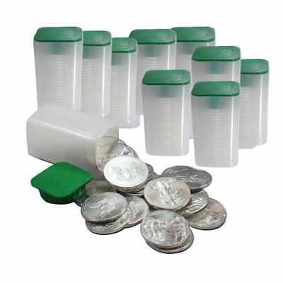 10 Rolls of 20 (200 Coins) - 1 Troy Oz American Silver Eagle Coin