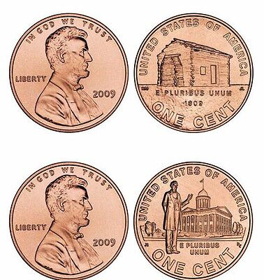 Complete Set of D Uncirculated Lincoln 2009 Bicentennial Cents 4 Coins