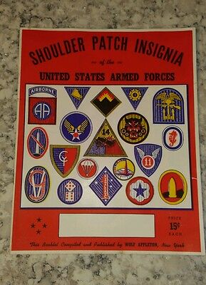 Wwii Wolf Appleton Shoulder Patch Insignia Of Us Armed Forces Vintage Catalog