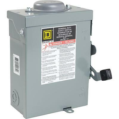 Square D DU221RBUP, 30 A General Duty Safety Switch, Service Disconnect, 66562