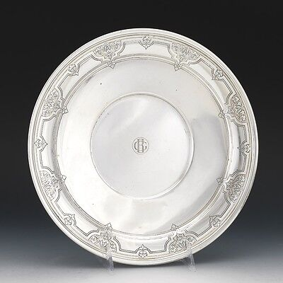 Tiffany & Co. Sterling Silver Footed Dish Tray Acid Etched Foliate Design