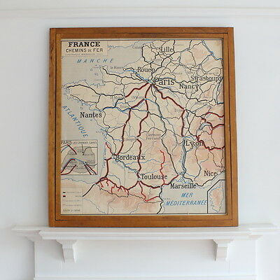 Rossignol vintage double sided French school map of France
