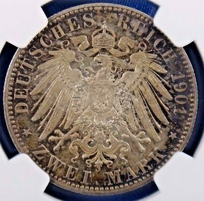 1901A Germany 2 Mark Prussia Bicentennial NGC MS63