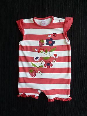Baby clothes GIRL 3-6m NEXT pink/white stripe flowers romper cotton SEE SHOP!