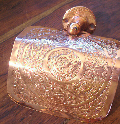Moroccan copper  hand engraved toilet roll holder