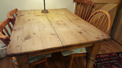 Antique pine farmhouse kitchen table - Victorian?
