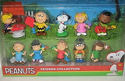 Peanuts Friends Collection Set of 10 Peanuts Gang Figures-NIP