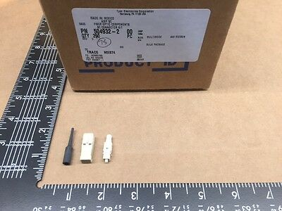 (5 pcs) 504932-2 Tyco-AMP, 125µm, Fiber Optic Plug Connector SC Simplex