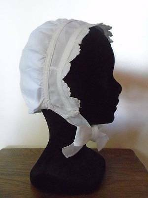 Adorable French Antique Broderie Anglaise Ladies Bonnet