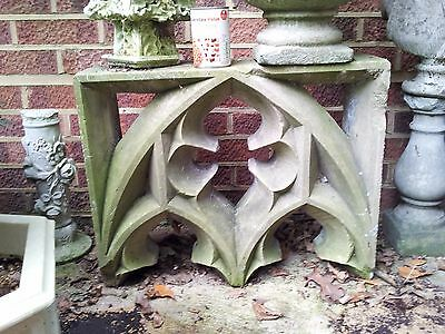 Charming Stone Gothic Arch Church Tracery...top part +some damage