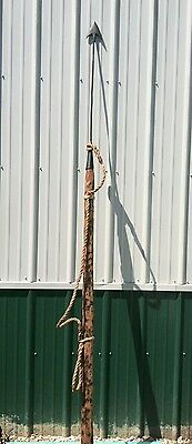 Antique Whale / Seal Harpoon 102 Inches Long Vintage Maritime Whaling