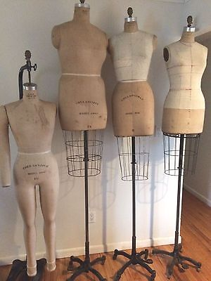 4 Vintage WOLF DRESS FORM Cage Collapsible MANNEQUINS  # 8,10, 38 will separate
