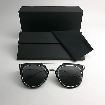 82180196b78 Christian Dior Sunglasses COMPOSIT 1.0 Gray or Brown lens Black SILVER Red  Frame