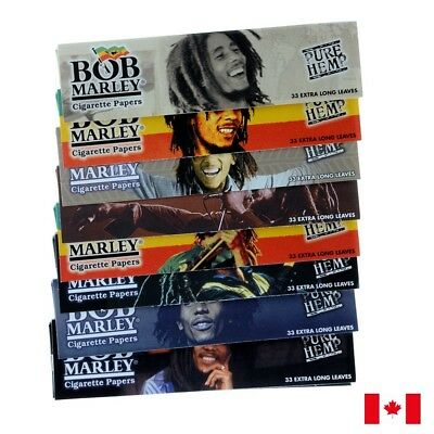 Bob Marley Pure Hemp Rolling Papers King Size 33 Extra Long Leaves - 10 Packs