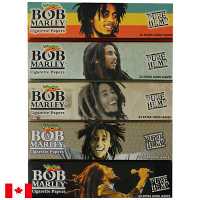 Bob Marley Pure Hemp Rolling Papers King Size 33 Extra Long Leaves - 5 Packs
