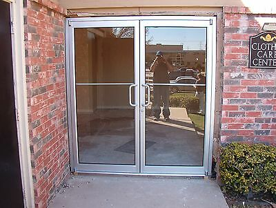 Commercial Storefront Doors 6X7 Anodized With Non-Transom Frame/glass Included!