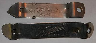Vintage Vernors Ginger Ale and Vess Soda Bottle Openers