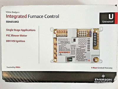 NEW White Rodgers 50A65-843 Universal Integrated Fan Control Board