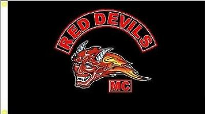Red Devils Motorcycle Club Flag - Reduced