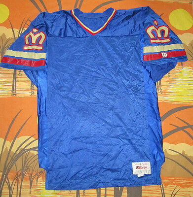 rare vtg 90s WILSON PRESTIGE LONDON MONARCHS WLAF FOOTBALL JERSEY original 48