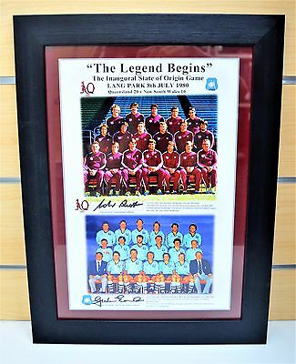 CLEARANCE The legend begins state of origin print 1980 QLD NSW Signed #755473