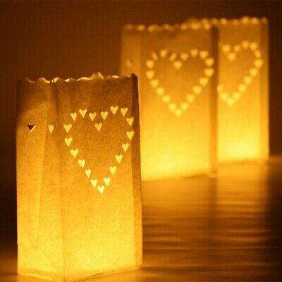 10pcs Paper Lantern Candle Bags light Holder Birthday Wedding Home Party Decor